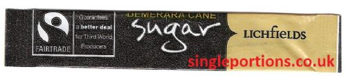 Fairtrade Demerara Cane Sugar - single portion sachet sticks